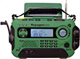 Kaito Voyager Pro KA600 Digital Solar Dynamo,Wind Up,Dynamo Cranking AM/FM/LW/SW & NOAA Weather Emergency Radio with Flashlight, Reading Lamp Alert,Smart Phone Charger & RDS and Real-Time Alert, Green