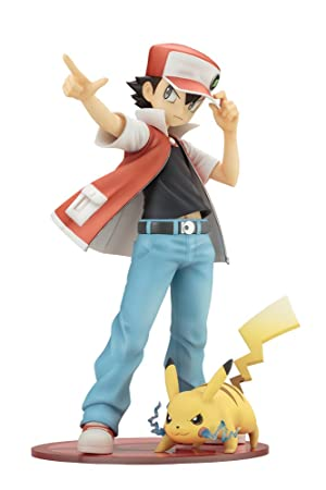 pokemon figure series red with pikachu [artfx j][japan importpokemon figure series red with pikachu [artfx j][japan import]