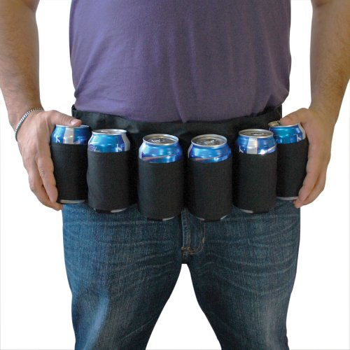 Beer Belt (BigMouth Inc Beer Belt / 6 Pack Holster(Black))