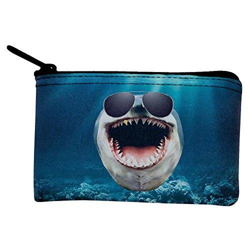 Big Goofy Shark In Sunglasses Coin Purse Multi Standard One Size
