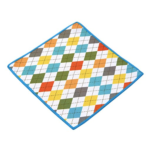 Carson Double Sided Microfiber Cleaning Cloth, Spring Argyle ()