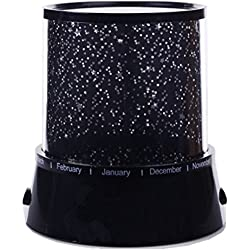 Syhonic Colorful Twilight Romantic Sky Star Master Projector Lamp, Starry LED Night Light Kids Bedroom Bed Light for Chiristmas