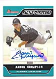 AARON THOMPSON 2006 Bowman Signs of the Future #AT AUTOGRAPH Card Florida Marlins Baseball