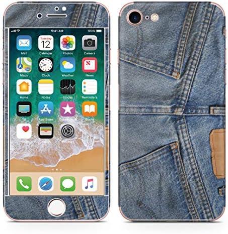 igsticker iPhone SE 2020 iPhone8 iPhone7 専用 スキンシール 全面スキンシール フル 背面 側面 正面 液晶 ステッカー 保護シール 000192 ユニーク ジーンズ おしゃれ ファッション