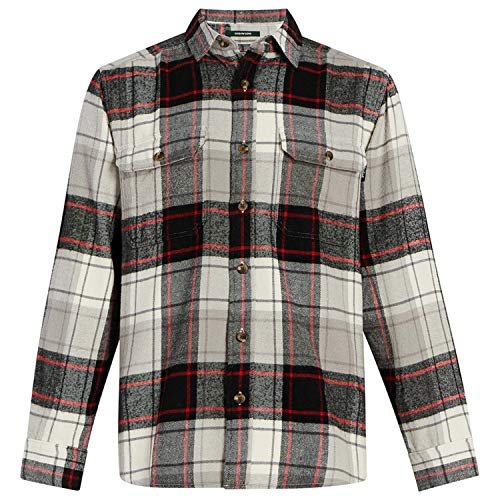 Woolrich Men's Oxbow Bend Flannel Shirt Modern Fit, Eagle Feather, Small