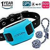 OCEVEN Wireless Dog Fence System with GPS, Outdoor Invisible Pet Containment System Rechargeable Waterproof Collar EF851S, Blue, for 15lbs-120lbs Dogs with 2pcs Toys for Free