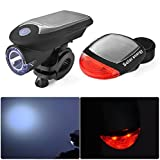 Bicycle Solar Light Rechargeable Bike Lights Front and Back LED Light Lamp