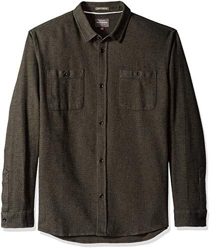Quiksilver Men's Irish Rocks Flannel Shirt, Ivy Green, XXL ()