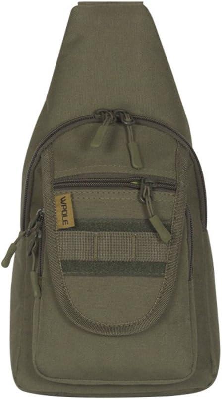 Bolsa de Pecho para Hombre y Mujer Mochila al Aire Libre Sport Daypack Bandolera para Acampar Senderismo Trekking Rover Sling Pack Pecho Pack Sling Bag Mochila Crossbody Impermeable (Color : Verde): Amazon.es: