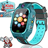 Waterproof Smart Watch for Kids GPS Tracker - Kids Smartwatch with SIM Card Inside for 3-12 Years Old Boys Girls - SOS Call Safety School Mode Games Smart Phone Watch Birthday Gifts Holiday Toy