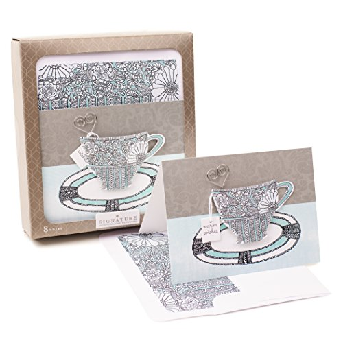 Hallmark Signature Notecards (Cup of Tea, 8 Cards and Envelopes)