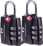 UltraTuff TSA Locks (2 Pack), RED OPEN ALERT Indicator for Luggage & GYM Lockers