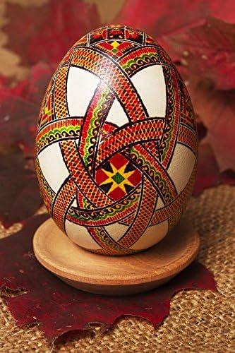 Pysanka hecha a mano huevo de Pascua pintarse con anilina ...