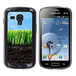 Paccase / SLIM PC / Aliminium Casa Carcasa Funda Case Cover - Nature Beautiful Forrest Green 136 - Samsung Galaxy S Duos S7562