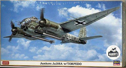 Hasegawa 1 72 Junkers Ju188A w Torpedo (Limited Edition)