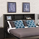 Prepac District Double/Queen Headboard in Washed Black