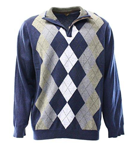 1/4 Zip Argyle Sweater - 8