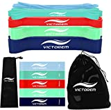VICTOREM Resistance Loop Bands– Exercise, Physical Fitness, Home Workout Training Set – 10 Heavy & Mini Booty Bands Set – Pull Up Assist, Stretching, Yoga, Therapy, Upper Body, Legs & Butt