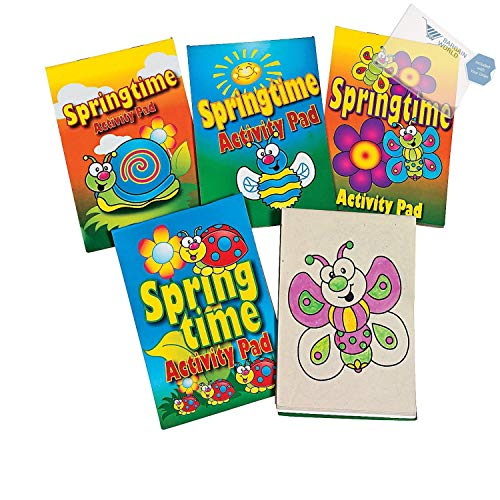 - Bargain World Springtime Activity Pads PDQ (With Sticky Notes)
