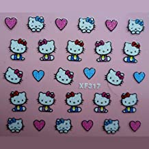5 PCS 3D Nail Art Stickers Decals Tips Charming DIY Decoration Hello Kitty 10 Choices (XF317)