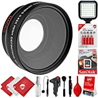 Opteka 0.43x Wide Angle / Macro Panoramic Fisheye Lens for Canon Digital SLR Cameras w/ 18-55mm & 50mm 80D, 77D, 70D, 60D, 7D, T7i, 7D Mark II, T6s, T6i, T6, T5i, T5, T4i, T3i, T3, SL1 & SL2