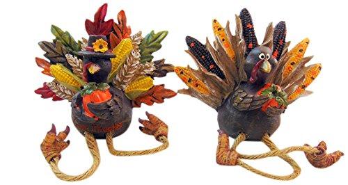 Gift Craft Pilgrim Turkey Shelf Sitter Harvest Decor