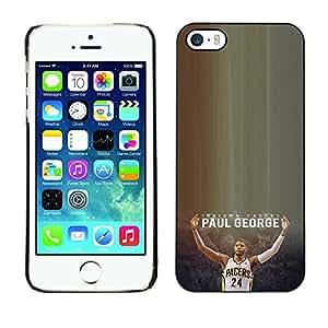 CASER CASES / Apple Iphone 5 / 5S / P George - Pacers - Basketball / Delgado Negro Plástico caso cubierta Shell Armor Funda Case Cover
