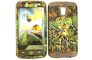 SHOCKPROOF HYBRID CELL PHONE COVER PROTECTOR FACEPLATE HARD CASE AND BROWN SKIN WITH STYLUS PEN. KOOL KASE ROCKER FOR SAMSUNG GALAXY S IV S4 ACTIVE I9252 HUNTER FOREST CAMO DEER MOSSY OAK CF-WFL025 by mcsharks