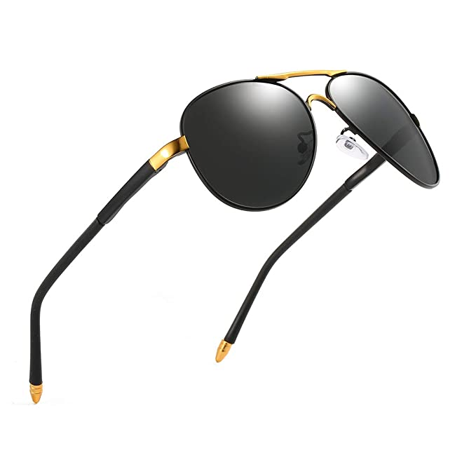 Amazon.com: Luojery Luxury Aviator UV400 - Gafas de sol ...