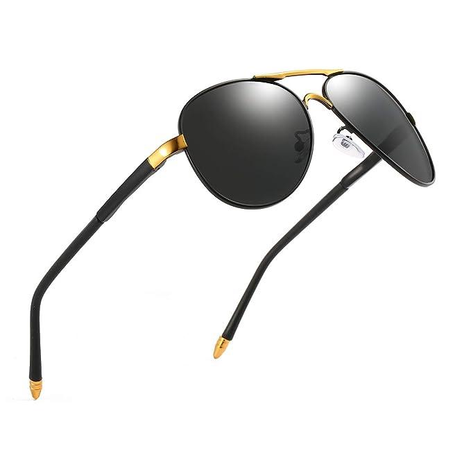 Amazon.com: Luojery Luxury Aviator UV400 - Gafas de sol ...