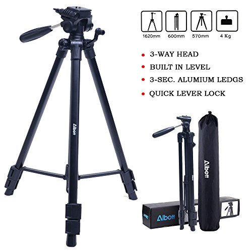 Tripod-Albott 64' Camera Tripod Portable Aluminium Lightweight with...