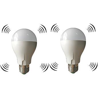 LED A19 light bulbs 5W Radar Sensor Bulb Indoor/Outdoor Dusk to ...