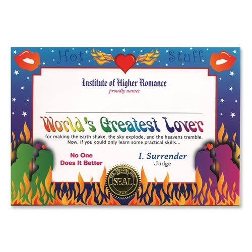 Beistle CG056 World's Greatest Lover Certificate, 5