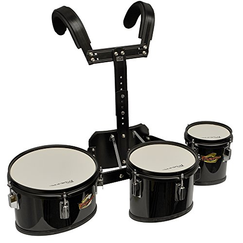 Trixon Field Series Professional Tenor Marching Tom - Set of 3 - Black by Trixon Drums