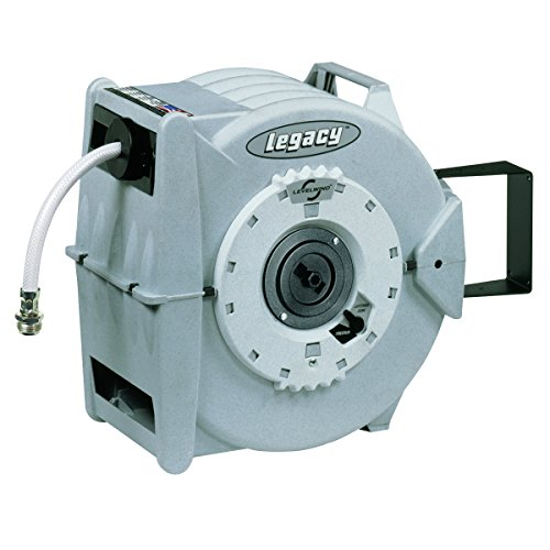 Legacy Levelwind Retractable Garden Hose Reel, 1/2 in. x 60 ft., PVC - L8345 by Legacy Manufacturing