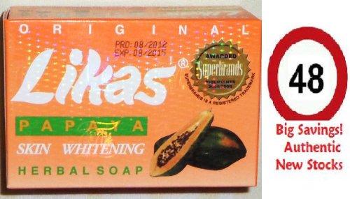 Whitening Soap Philippines (Lot of 48 Likas Papaya Herbal Whitening Soap (Authentic/Original) 135g Ea)