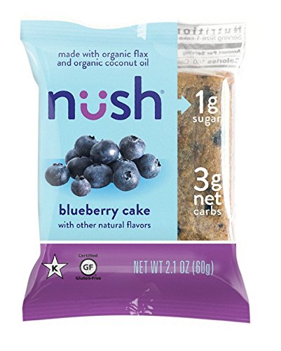 Low Carb Keto Snack Cakes (Flax-Based) - Blueberry Flavor (6 Cakes) - Gluten Free, Soy Free, Organic, No Sugar Added - Great for Ketogenic, Low-Carb, Atkins, and Low-Sugar Diets