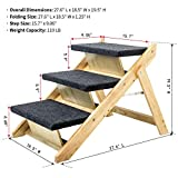 MEWANG Wood Pet Stairs/Pet Steps - Foldable