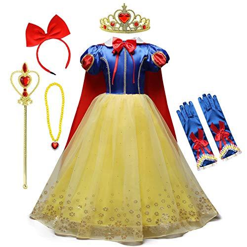 HOIZOSG Prinses Dress Up voor kleine meisjes Sneeuwwitje Verjaardagsfeest Carnaval Halloween Kostuum Kerst Outfits w…