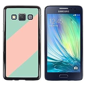 Patrón trullo Línea Rosa Clean minimalista - Metal de aluminio y de plástico duro Caja del teléfono - Negro - Samsung Galaxy A3