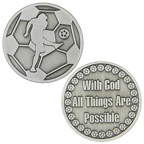 Soccer Coins, European Football Coins Set of 6 Pewter Coins