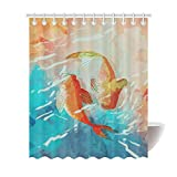 Fish Shower Curtain Walmart ROKS-ASD Quality Water-Repellent Polyester Fabric Shower Curtain for Bathroom 60x72-Two Fish