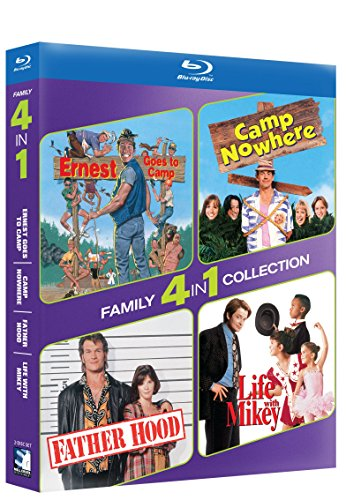 Blu Ray Family 4 Pack   Ernest Goes To Camp Camp Nowhere   Father Hood Life With Mikey