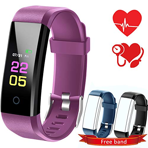 Fitness Tracker Watch with Blood Pressure Monitor,Kids Activity Tracker Waterproof with Heart Rate Monitor. Pedometer Sports Watch with Sleep Monitor Wristband for Android and iOS Smartphone