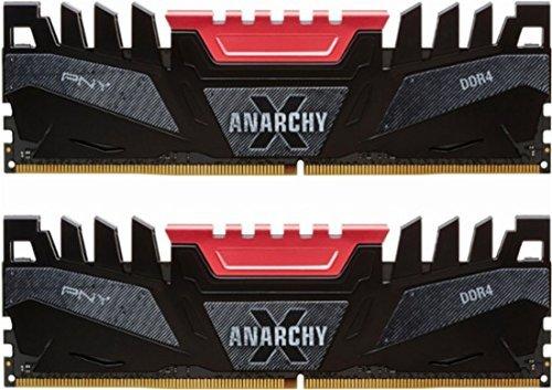 PNY Anarchy-X 16GB  3200MHz DDR4 Desktop Memory - Red MD16GK