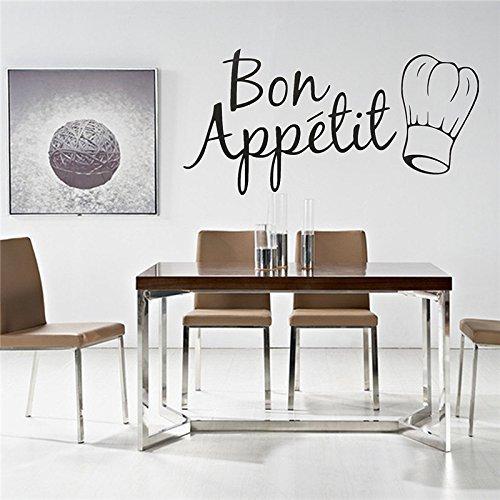 Pakdeevong shop Fashion Home Decor DIY Characters Kitchen Stickers Bon Appetit Wall (Halloween Bon Appetit)