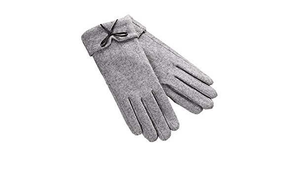 DRAGON SONIC Gray Winter Warm Mittens Plush-lined Gloves Mens Touchscreen Gloves