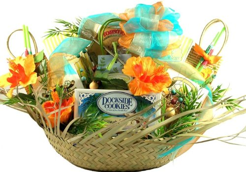 It's 5 O'Clock Somewhere Tropical Themed Gourmet Gift Basket