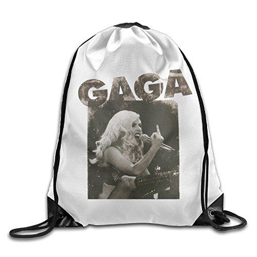 Lady Gaga Middle Finger Drawstring Backpack Cool Sports String Bag
