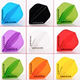 5 x Mixed Sets of Amazon Transparent Dart Flights Standard Shape